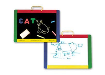 Melissa & Doug - Magnetic Chalk/Dry-Erase Board - Children's Toys & Games Arts & Crafts