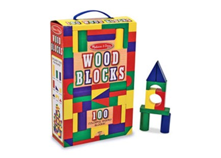 Melissa & Doug - 100 Wood Block Set - Children's Toys & Games Building & Blocks