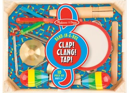 Melissa & Doug - Band-in-a-Box - Clap! Clang! Tap! - Children's Toys & Games Musical