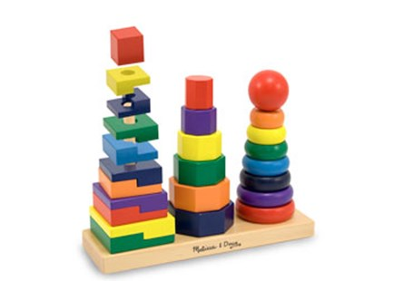 Melissa & Doug - Geometric Stacker - Children's Toys & Games Infant Toys