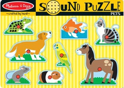 Melissa & Doug - Pets Sound Puzzle - 8pc - Children's Toys & Games Games & Puzzles