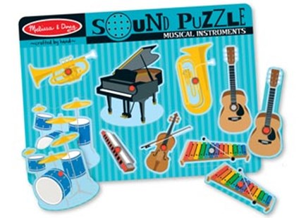 Melissa & Doug - Musical Instruments Sound Puzzle - 8pc - Children's Toys & Games Games & Puzzles