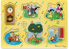 Melissa & Doug - Sing-Along Nursery Rhymes 1 Song Puzzle - 6pc
