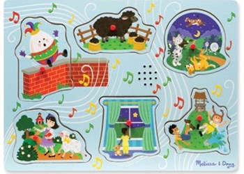 Melissa & Doug - Sing-Along Nursery Rhymes 2 Song Puzzle - 6pc