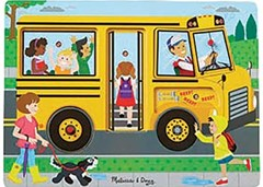 Melissa & Doug - The Wheels on the Bus Song Puzzle - 6pc