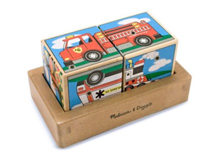 Melissa & Doug - Vehicles Sound Blocks - Children's Toys & Games Games & Puzzles