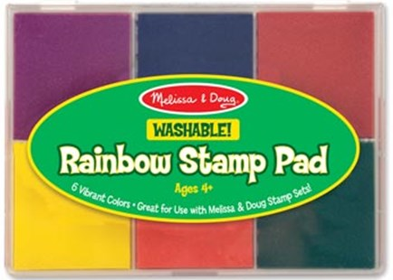 Melissa & Doug - Rainbow Stamp Pad 6 Colours - Children's Toys & Games Arts & Crafts