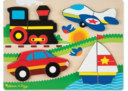 Melissa & Doug - Vehicles  Chunky Jigsaw Puzzle - Children's Toys & Games Games & Puzzles