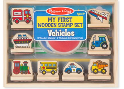Melissa & Doug - My First Wooden Stamp Set - Vehicles - Children's Toys & Games Arts & Crafts