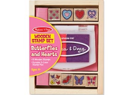 Melissa & Doug - Butterfly And Hearts Stamp Set - Children's Toys & Games Arts & Crafts