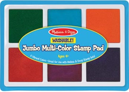 Melissa & Doug - Jumbo Multi-Color Stamp Pad - Children's Toys & Games Arts & Crafts