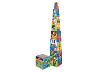 Melissa & Doug - Alphabet Nesting & Stacking Blocks
