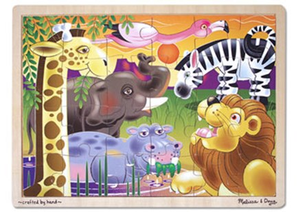 Melissa & Doug - African Plains Jigsaw - 24pc - Children's Toys & Games Games & Puzzles