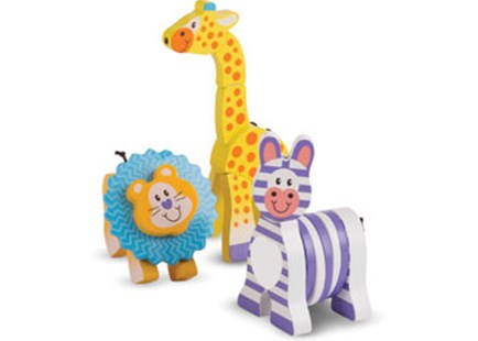 Melissa & Doug - First Play - Safari Grasping Toys - Children's Toys & Games Infant Toys