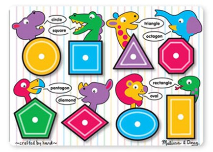 Melissa & Doug - Shapes Peg Puzzle - Children's Toys & Games Educational