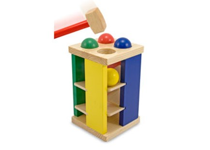 Melissa & Doug - Pound And Roll Tower - Children's Toys & Games Infant Toys