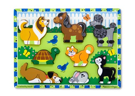 Melissa & Doug - Pets Chunky Puzzle 8pce - Children's Toys & Games Games & Puzzles