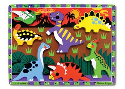 Melissa & Doug - Dinosaurs Chunky Puzzle - Children's Toys & Games Games & Puzzles