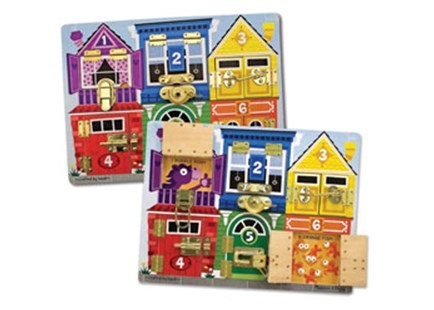 Melissa & Doug - Latches Board - Children's Toys & Games Games & Puzzles