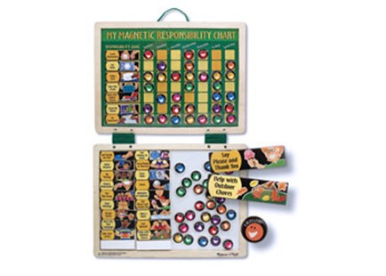 Melissa & Doug - Magnetic Responsibility Chart - Chore Chart - Children's Toys & Games Educational