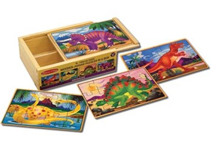 Melissa & Doug - Dinosaurs Puzzles in a Box - Non-Fiction Art & Activity