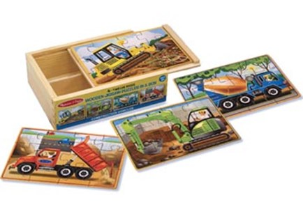 Melissa & Doug - Construction Puzzles in a Box - Jigsaws