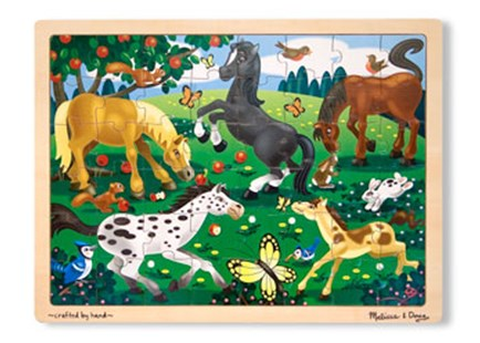 Melissa & Doug - Frolicking Horses Jigsaw - 48pc by  (0000772038010) - Jigsaw - Children's Toys & Games Games & Puzzles
