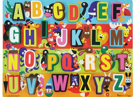 Melissa & Doug - Jumbo ABC Chunky Puzzle - 26pc - Children's Toys & Games Games & Puzzles