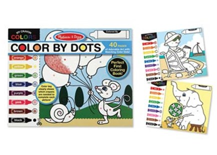 Melissa & Doug - Colour By Dots - Non-Fiction Art & Activity