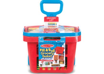 Melissa & Doug - Fill & Roll Grocery Basket Play Set - Children's Toys & Games Dress Up & Role Play