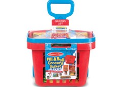 Melissa & Doug - Fill & Roll Grocery Basket Play Set