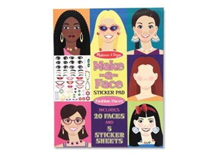 Melissa & Doug - Make-a-Face - Fashion Faces - Non-Fiction Art & Activity