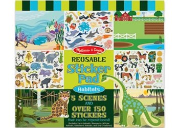 Melissa & Doug - Reusable Sticker Pad - Habitats