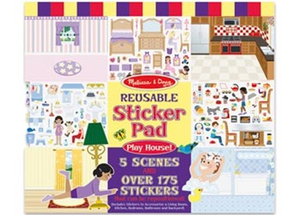 Melissa & Doug - Reusable Sticker Pad - Play House - Children's Toys & Games Arts & Crafts