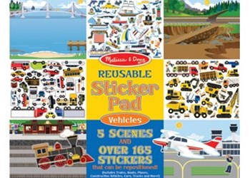 Melissa & Doug - Reusable Sticker Pad - Vehicles
