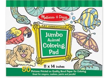 Melissa & Doug - Jumbo Colouring Pad - Animals