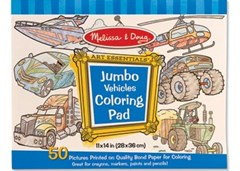 Melissa & Doug - Jumbo Colouring Pad - Vehicles