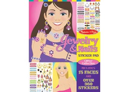 Melissa & Doug - Jewelry & Nails Glitter Collection - Non-Fiction Art & Activity