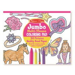 M&D - Jumbo Colouring Pad - Pink