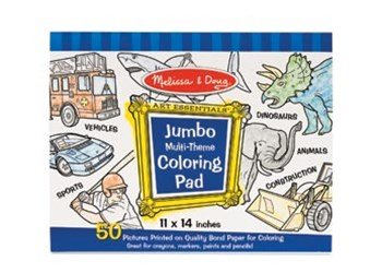 Melissa & Doug - Jumbo Colouring Pad - Blue