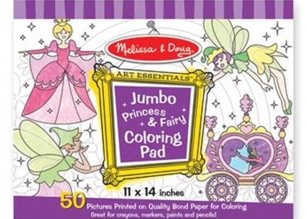 Melissa & Doug - Jumbo Colouring Pad - Princess & Fairy - Non-Fiction Art & Activity