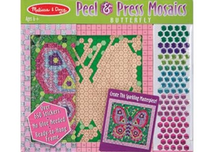 Melissa & Doug - Peel & Press Mosaics - Butterfly - Children's Toys & Games Arts & Crafts