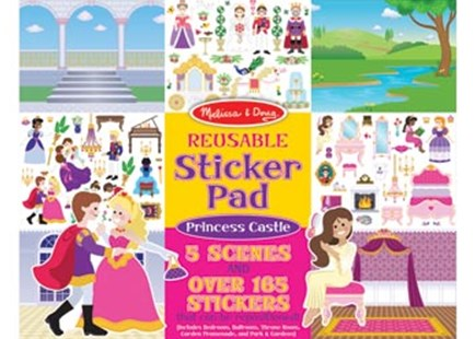 Melissa & Doug - Reusable Sticker Pad - Princess Castle - Children's Toys & Games Arts & Crafts