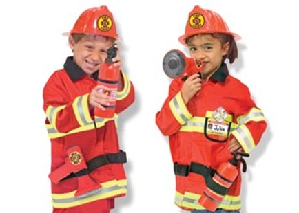Melissa & Doug - Fire Chief Role Play Costume Set - Children's Toys & Games Dress Up & Role Play
