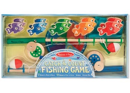 Melissa & Doug - Catch & Count Fishing Game - Children's Toys & Games Games & Puzzles