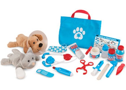Melissa & Doug - Examine & Treat Pet Vet Play Set - Children's Toys & Games Dress Up & Role Play