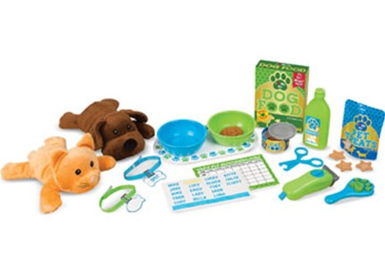 Melissa & Doug - Feeding & Grooming Pet Care Play Set - Children's Toys & Games Dress Up & Role Play