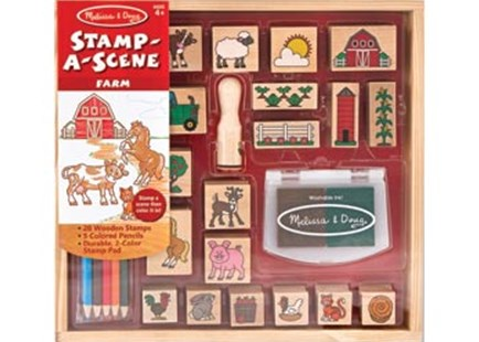 Melissa & Doug - Stamp A Scene - Farm - Children's Toys & Games Arts & Crafts