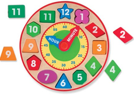 Melissa & Doug - Wooden Shape Sorting Clock - Children's Toys & Games Educational