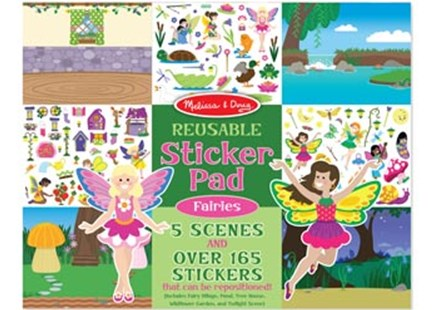 Melissa & Doug - Reusable Sticker Pad - Fairies - Children's Toys & Games Arts & Crafts